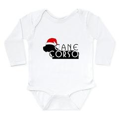 Cane Corso Holiday Long Sleeve Infant Bodysuit