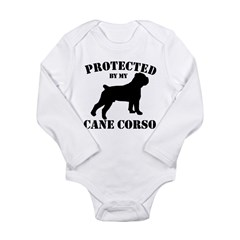 Protected by my Cane Corso Long Sleeve Infant Body