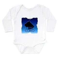 Blue Cane Corso Long Sleeve Infant Bodysuit