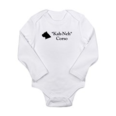 Kah Ney Corso Long Sleeve Infant Bodysuit