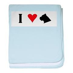 I Heart Cane Corso baby blanket