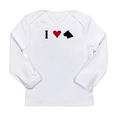 I Heart Cane Corso Long Sleeve Infant T-Shirt