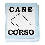 Cane Corso Logo Black baby blanket
