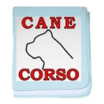 Cane Corso Logo Red baby blanket