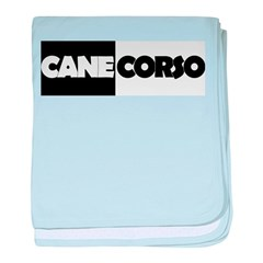 Cane Corso B&W baby blanket