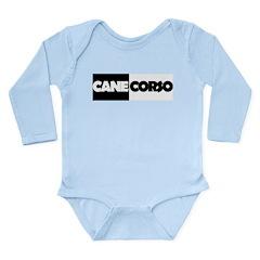 Cane Corso B&W Long Sleeve Infant Bodysuit