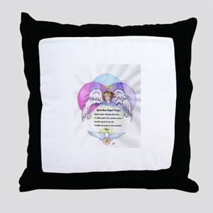 Guardian Angel Prayer Throw Pillow