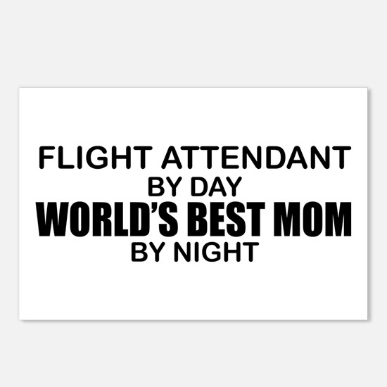 World's Best Mom - FLIGHT ATTENDANT Postcards (Pac