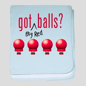 Got (Big Red) Balls? baby blanket