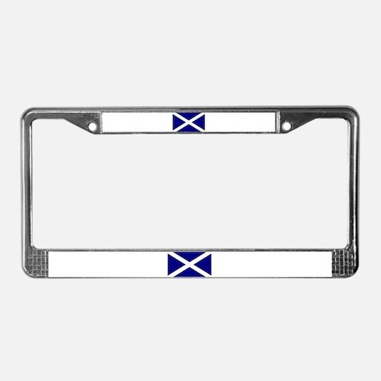 Flag of Scotland License Plate Frame