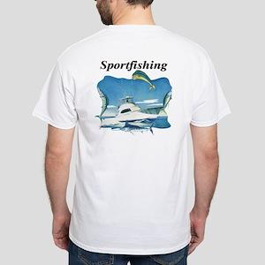 Sportfishing White T-Shirt