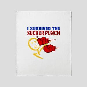 Sucker Punch Survivor Throw Blanket