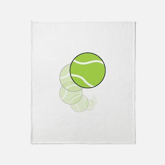 Tennis Wave Throw Blanket