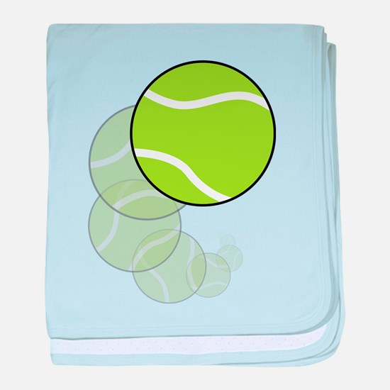 Tennis Wave baby blanket
