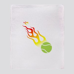 Tennis On Fire! Throw Blanket