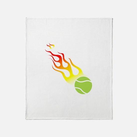 Tennis On Fire! Throw Blanket
