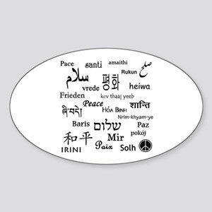 Peace Everywhere! Sticker (Oval)