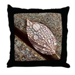 Water On A Leaf Throw Pillow