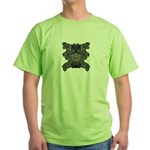 Black & White Skull Green T-Shirt