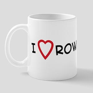 I Love Rowing Mug