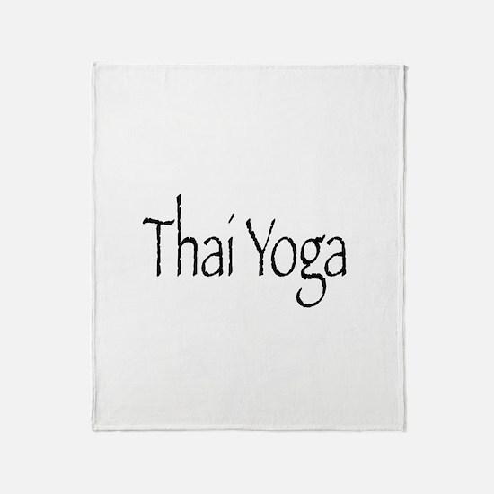 Thai Yoga Style2 Throw Blanket