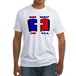 God Bless the USA Fitted T-Shirt
