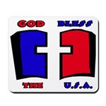 God Bless the USA Mousepad