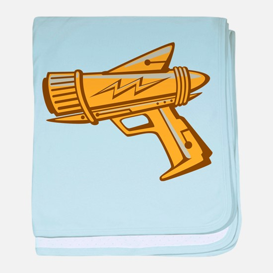 Golden Toy Ray Gun baby blanket