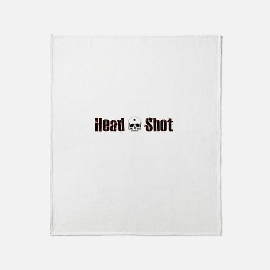 Head Shot Throw Blanket