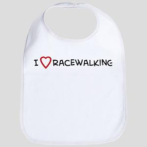 I Love Racewalking Bib