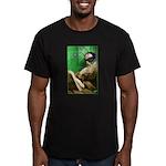 Calvin as Gadfly Men's Fitted T-Shirt (dark)