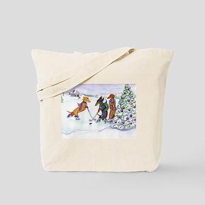 Hockey Dachsies Tote Bag