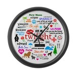 Twilight Memories Large Wall Clock