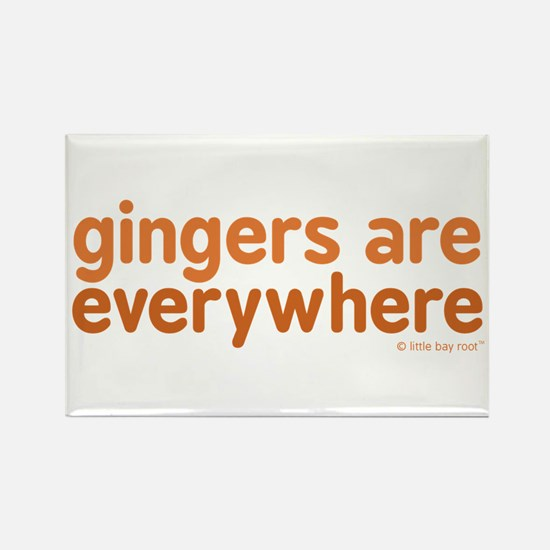 Gingers are Everywhere Rectangle Magnet