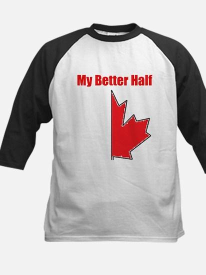 My Better Half Kids Baseball Jersey