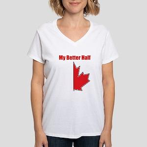 My Better Half Women's V-Neck T-Shirt