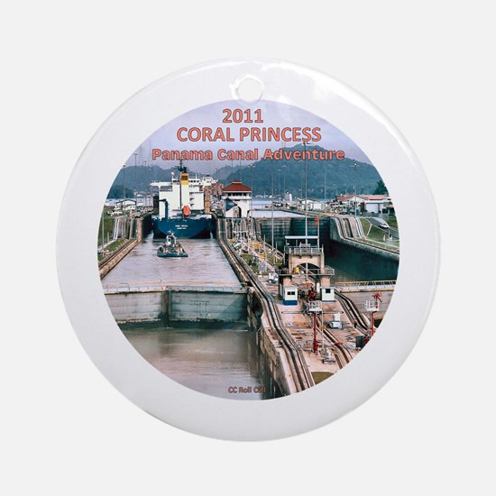 Coral Panama Canal 2011 - Ornament (Round)