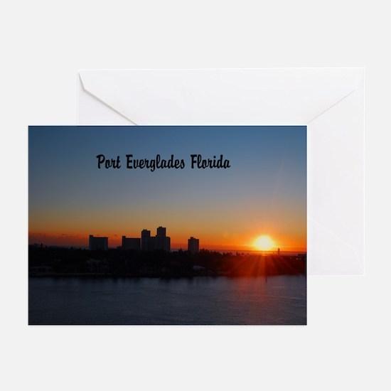 Fort Lauderdale sunrise Greeting Cards (Pk of 20)
