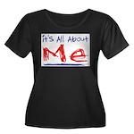 It's all about ME! Women's Plus Size Scoop Neck Da