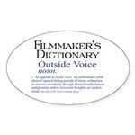 Outside Voice Sticker (Oval 50 pk)