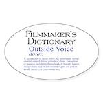 Outside Voice Sticker (Oval 10 pk)
