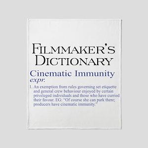 Cinematic Immunity Throw Blanket