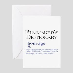 Filmmaker's Dictionary: Homag Greeting Card