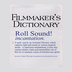 Film Dctnry: Roll Sound! Throw Blanket
