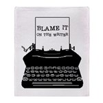 Blame the Typewriter Throw Blanket