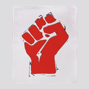Raised Fist Throw Blanket