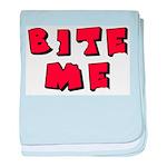 Bite Me! design baby blanket