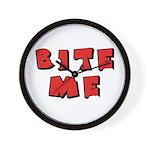 Bite Me! design Wall Clock