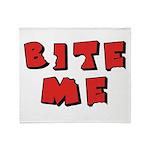 Bite Me! design Throw Blanket