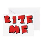 Bite Me! design Greeting Card